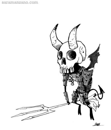 demonio esqueleto