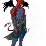 demonio alado