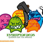 Caricatura Estreptococos