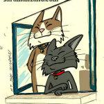 Gatos en la ventana