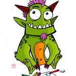 Monstruo dibujando