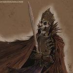 Esqueleto guerrero antiguo
