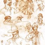bocetos caballeros siglo XVII