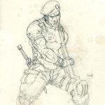 Boceto soldado