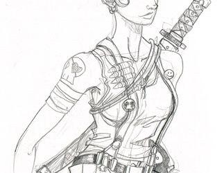 chica armada